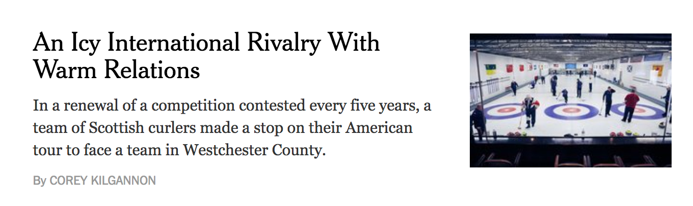 NY Times - An Icy International Rivalry With Warm Relations